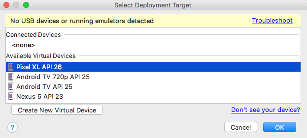 Select Deployment Target